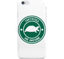 Tortoises are awesome (Green) iPhone Case/Skin