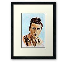""""""" Uno scrittore al fronte"""" Eugenio Corti portrait Framed Print"""