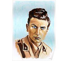 """"""" Uno scrittore al fronte"""" Eugenio Corti portrait Poster"""
