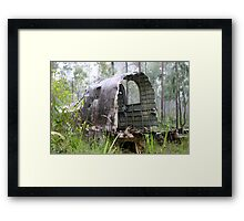 WW2 crash site Framed Print