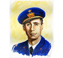 """"""" Il nemico sulle ali """" Portraits-Giulio Cesare Graziani Poster"""