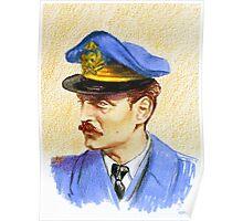 """""""Volando con Visconti"""" Portraits- Adriano Visconti Poster"""