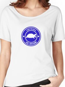 Tortoises are awesome (Blue) Women's Relaxed Fit T-Shirt
