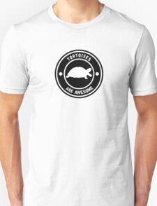 Tortoises are awesome (BLACK) Unisex T-Shirt