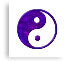 Abstract Purple Yin Yang Symbol Canvas Print