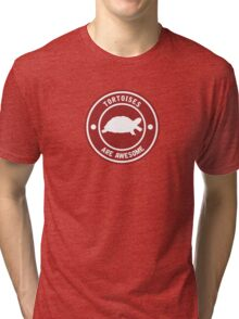 Tortoises are awesome (RED) Tri-blend T-Shirt