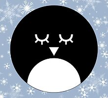 Snowy Penguin STICKER by Sidrah Mahmood