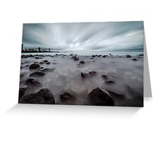 On the Rocks - Burleigh Heads Qld Australia Greeting Card