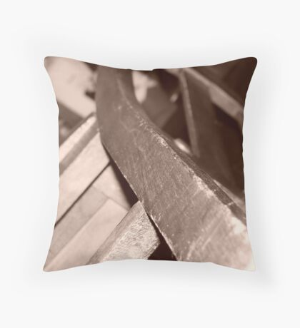 collapse of the lonely chair Throw Pillow