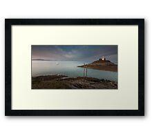 Mumbles lighthouse Swansea Framed Print