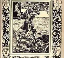 Spenser's Faerie queene A poem in six books with the fragment Mutabilitie Ed by Thomas J Wise, pictured by Walter Crane 1895 V5 261 - Artegall Doth Sir Burbon Side by wetdryvac