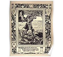 Spenser's Faerie queene A poem in six books with the fragment Mutabilitie Ed by Thomas J Wise, pictured by Walter Crane 1895 V5 261 - Artegall Doth Sir Burbon Side Poster