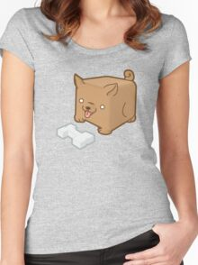 Cube Puppy Women's Fitted Scoop T-Shirt
