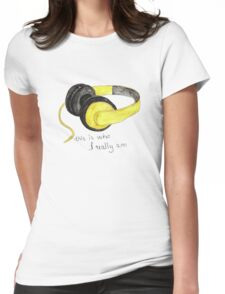 Music is love Womens Fitted T-Shirt