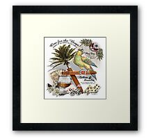 parrot in a hat Framed Print