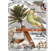 parrot in a hat iPad Case/Skin