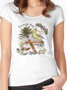 parrot in a hat Women's Fitted Scoop T-Shirt