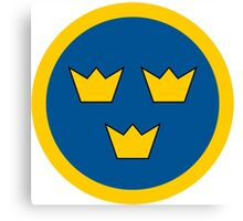 Swedish Air Force - Roundel Canvas Print