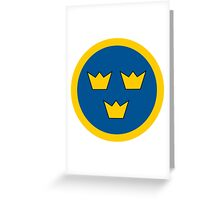 Swedish Air Force - Roundel Greeting Card