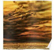 Yellow sky Poster