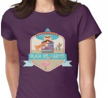 Playa Del Carmen Badge Womens Fitted T-Shirt