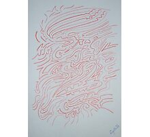 Red Lines Dancing and Moving Photographic Print