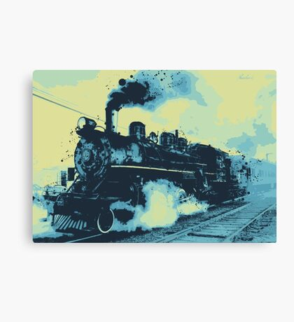 Morning train 1946 Canvas Print
