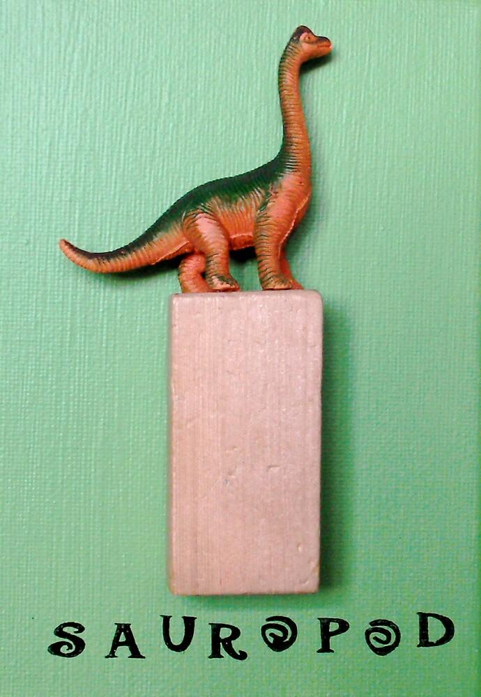Green Sauropod by debora bryan