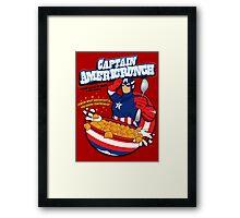Captain Americrunch Framed Print