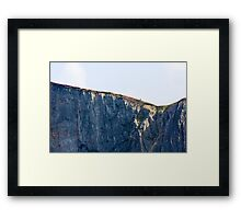 The Solitary Hiker Framed Print