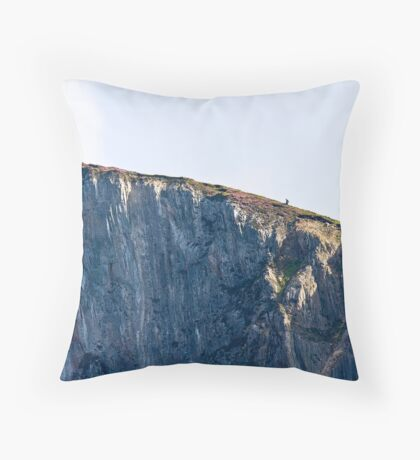 The Solitary Hiker Throw Pillow