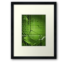 Abstract technological background Framed Print