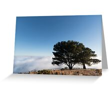 Standing at the Edge of Heaven & Earth Greeting Card