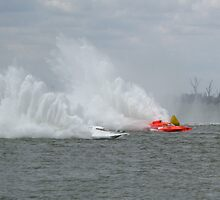 Racing boats competing in the EC Griffith Cup at Yarrawonga 2008 by David Hunt