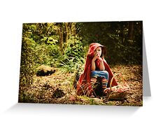 lost lil red... Greeting Card