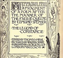 Spenser's Faerie queene A poem in six books with the fragment Mutabilitie Ed by Thomas J Wise, pictured by Walter Crane 1895 V6 279 - Poetry Fragment Plate by wetdryvac