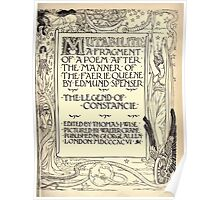 Spenser's Faerie queene A poem in six books with the fragment Mutabilitie Ed by Thomas J Wise, pictured by Walter Crane 1895 V6 279 - Poetry Fragment Plate Poster