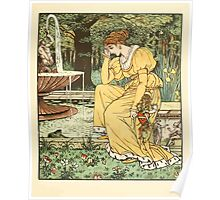 The Frog Prince Walter Crane 1874 7 - At the Fountain Poster