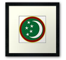 Turkmen Air Force - Roundel Framed Print