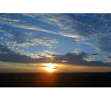 Larravide Blue Orange Sunset Photographic Print