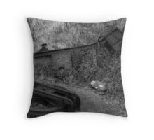Old Pulley Throw Pillow