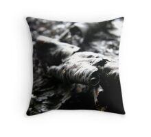 Rough tree seas Throw Pillow