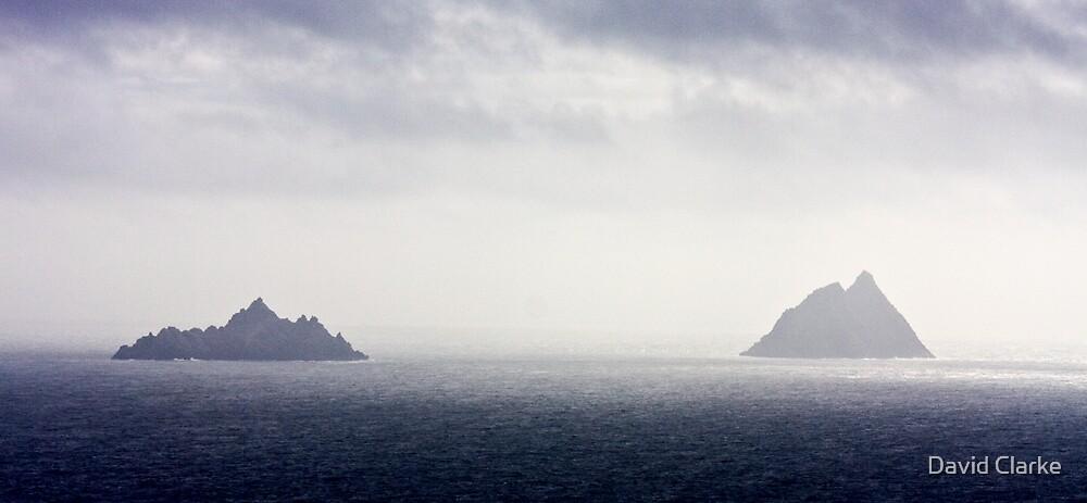 The Skellig Rocks by David Clarke