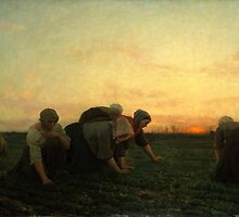 The Weeders 1868 by Jules Breton by Adam Asar