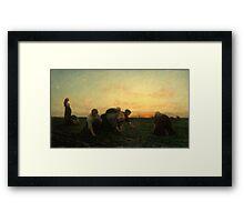 The Weeders 1868 by Jules Breton Framed Print