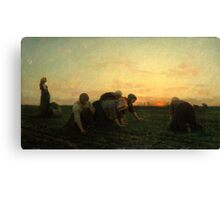 The Weeders 1868 by Jules Breton Canvas Print