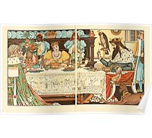 The Frog Prince Walter Crane 1874 14 - At the Dinner Table Poster