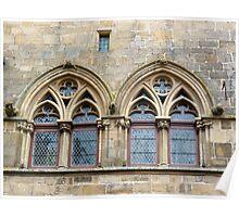 Twin windows at Cordes-sur-Ciel Poster