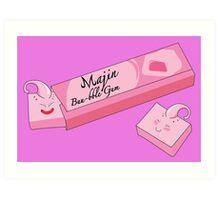 Majin Buu-bble Gum Art Print