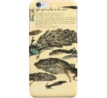The Buckle My Shoe Picture Book by Walter Crane 1910 52 - Eight Peacocks in the Air iPhone Case/Skin